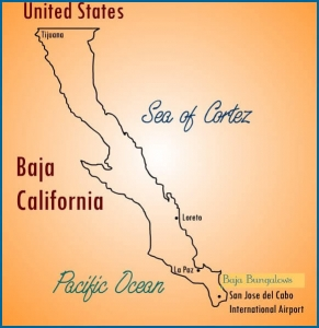 Baja California cabo pulmo map